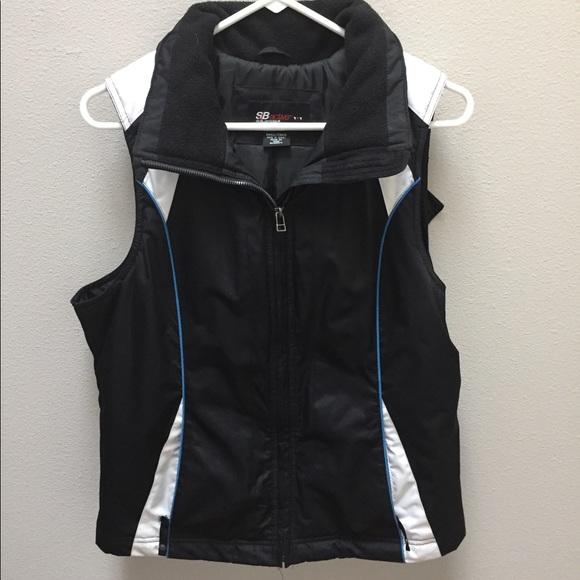 SB Active Jackets & Blazers - SB Active Vest Jacket Puffer Hooded Sz Small Black
